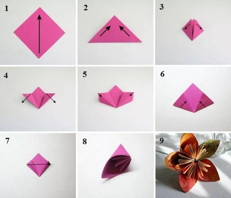 Как сделать из бумаги цветы пошаговое для начинающих