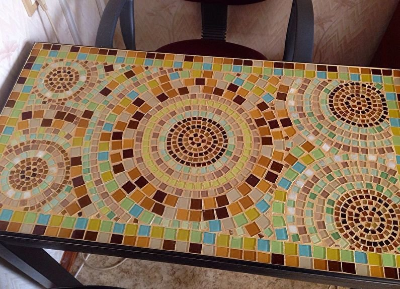 Столешницу своими руками из мозаики 39