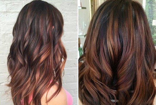 Окраска волос 2017-2018 модные тенденции на средние волосы