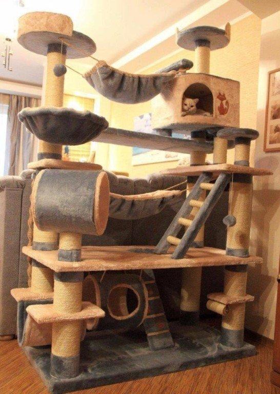Многоуровневый кошачий домик своими руками 93