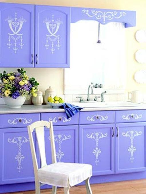 Украсить кухонную мебель своими руками 57