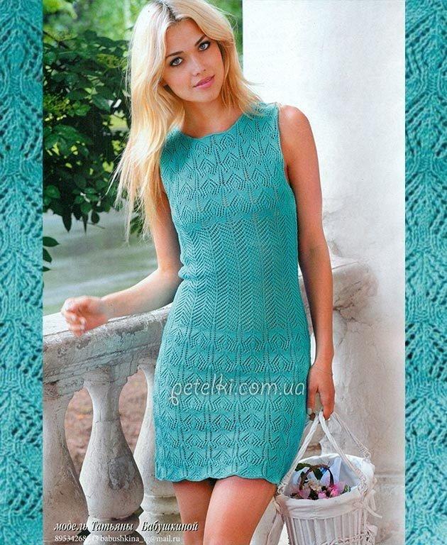 Вязание крючком платья из хлопка 187