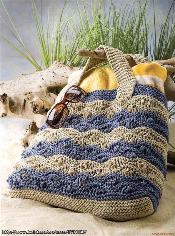 Вязание крючком пляжные сумки 47