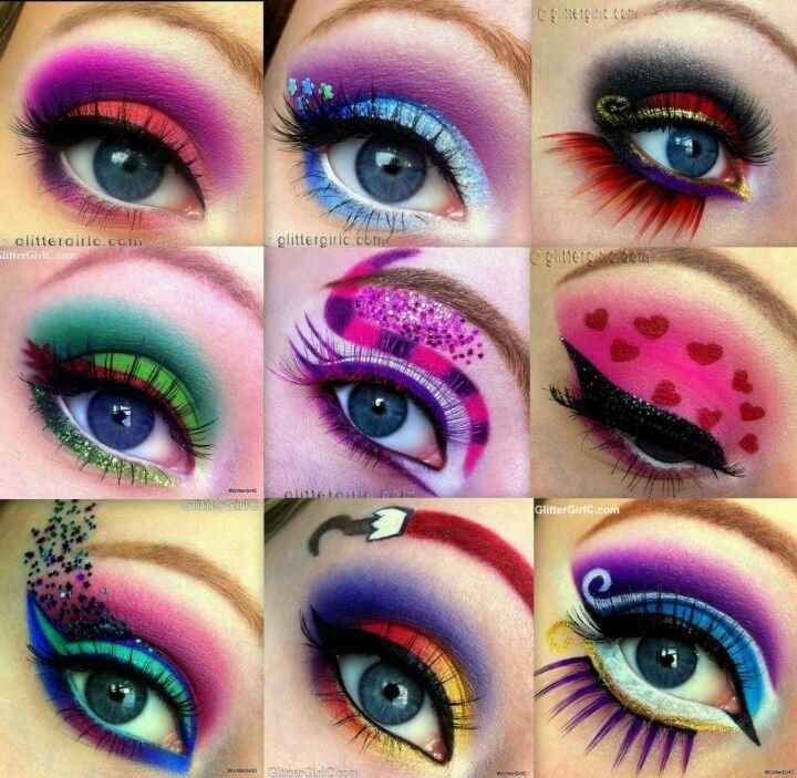 Как сделать в макияже яркие глаза 9