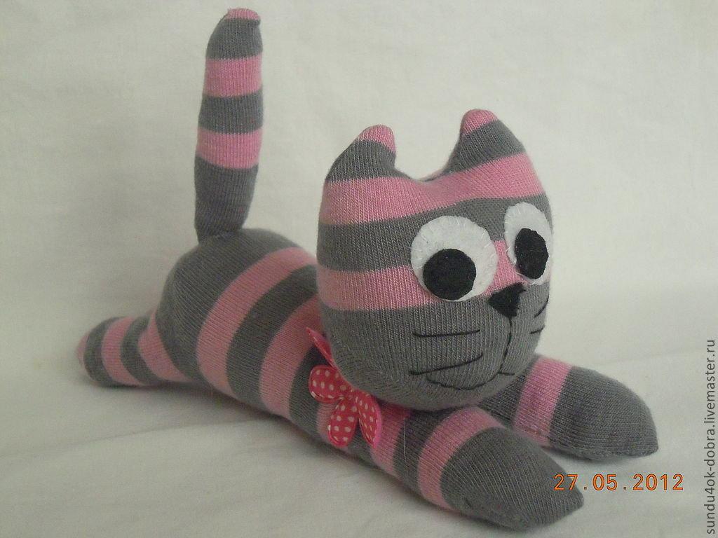 Игрушка из носка своими руками котёнок