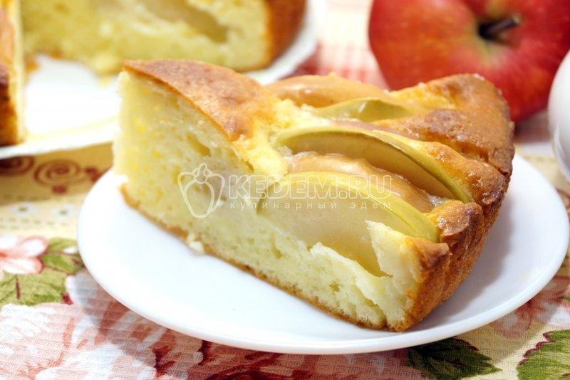 Рецепт творожной шарлотки с яблоками с пошаговым