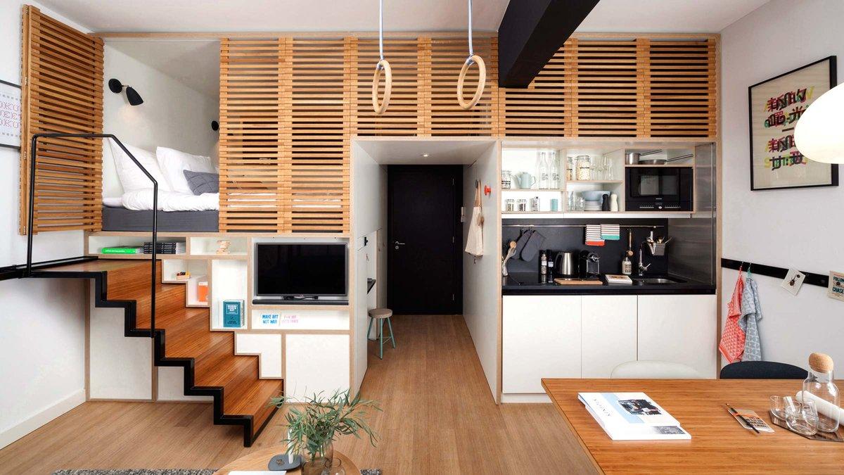 Как сделать из однокомнатной квартиры студию фото