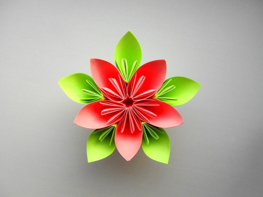 Объёмные цветы из бумаги своими руками оригами 21