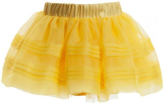 Как сшить юбку из органзы для девочки 700