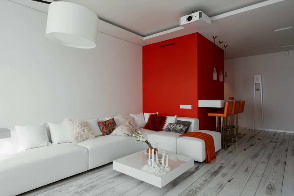 Дизайн квартиры в белых тонах