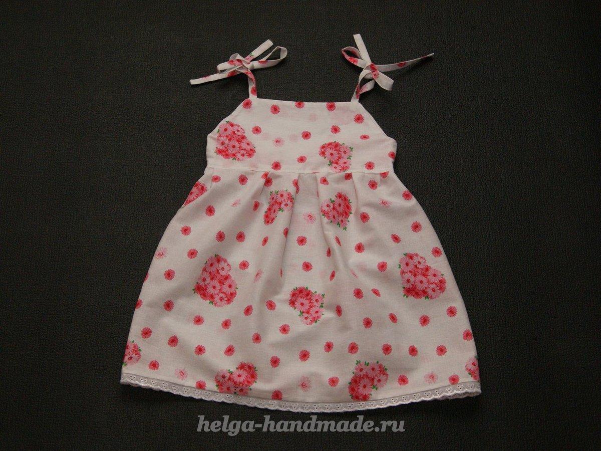 Детские платья сшить самим быстро и просто. Часть 1 7