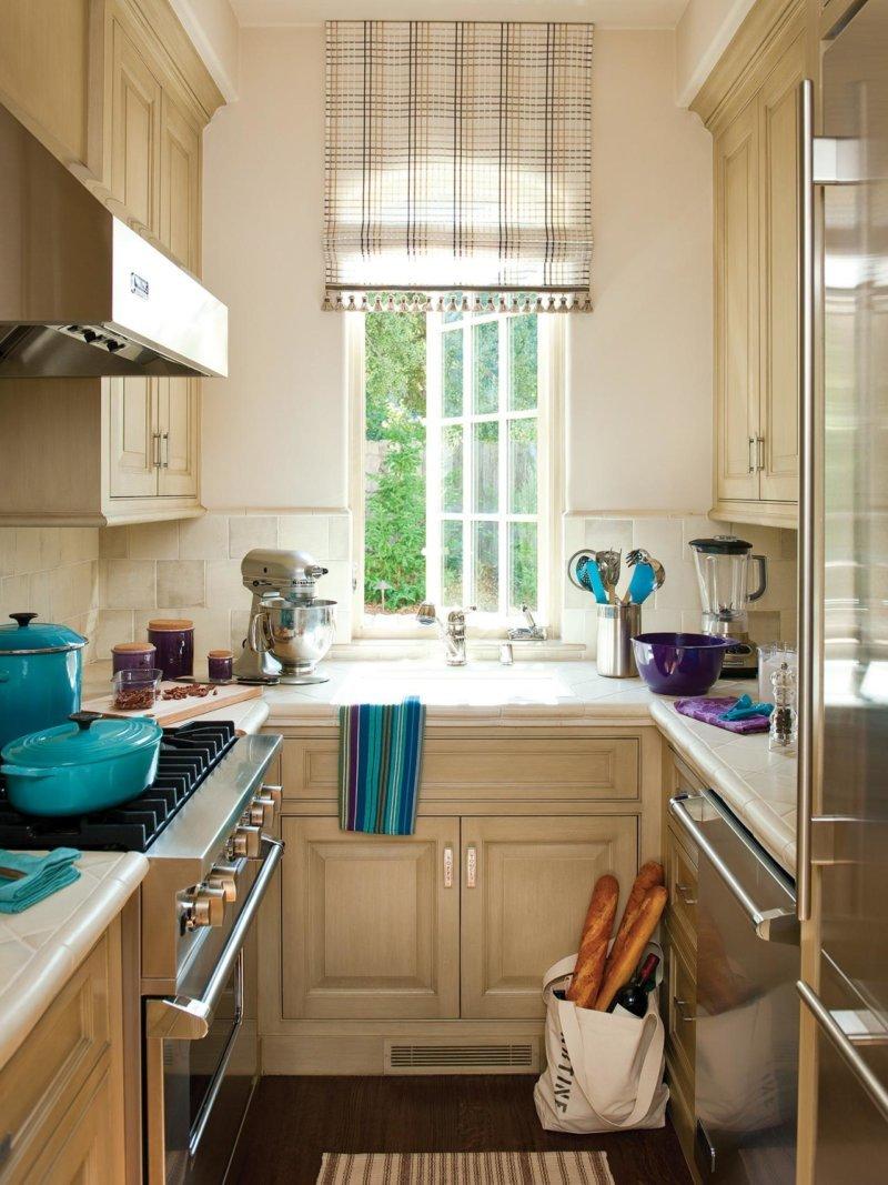 Идеи ремонта узкой кухни фото