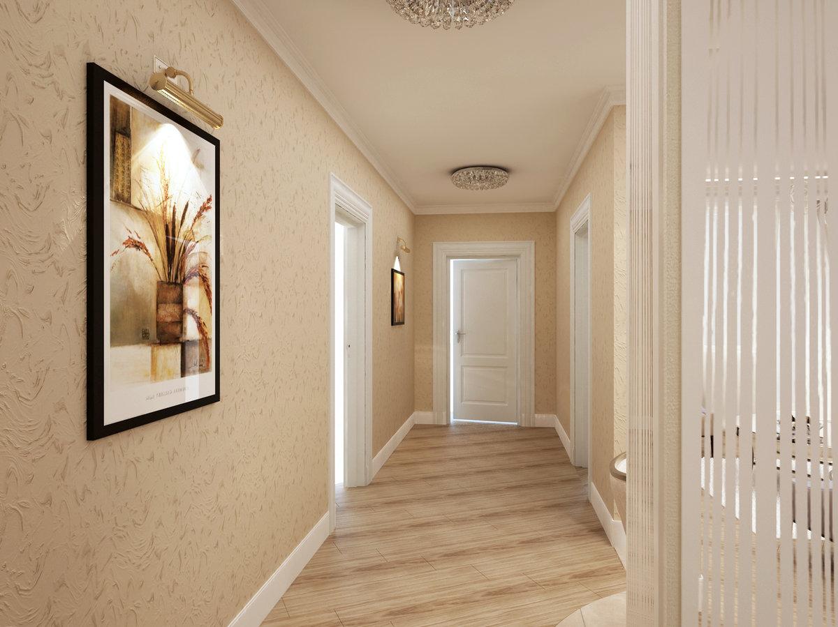 Дизайн узкого длинного коридора в трехкомнатной квартире дизайн