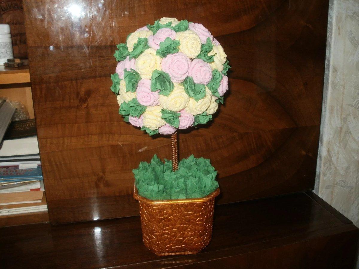 Деревья из салфеток своими руками фото как сделать цветы из