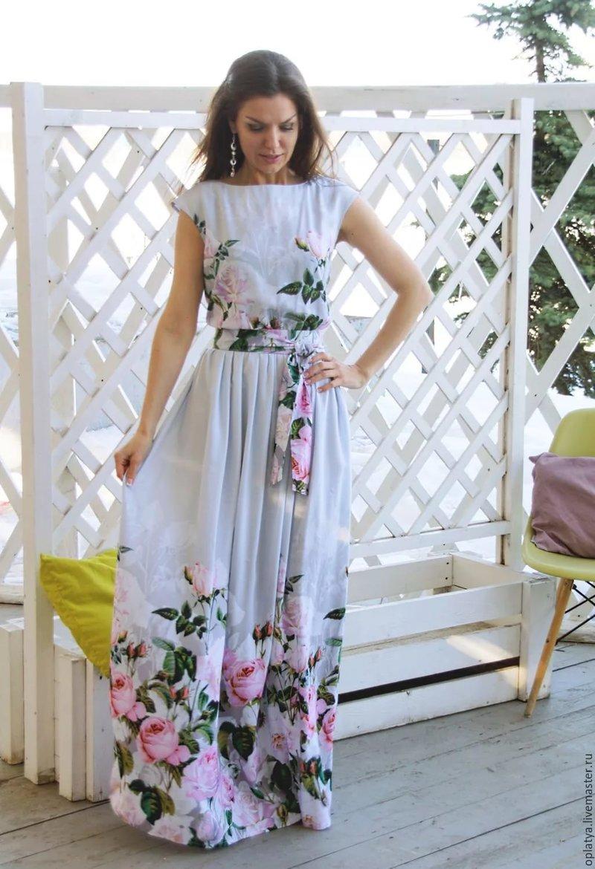 Платья лето 2017 в пол