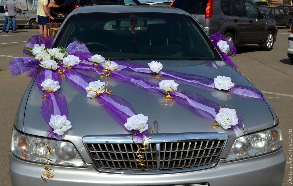 Как сделать ленты на свадебные машины своими руками фото