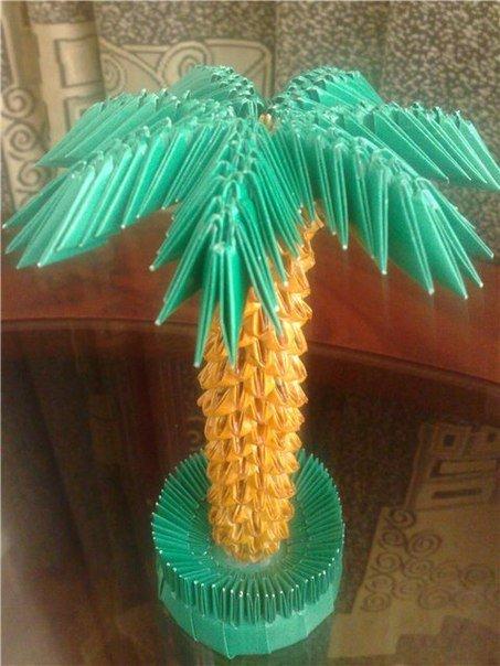 Модульный оригами схема пальмы