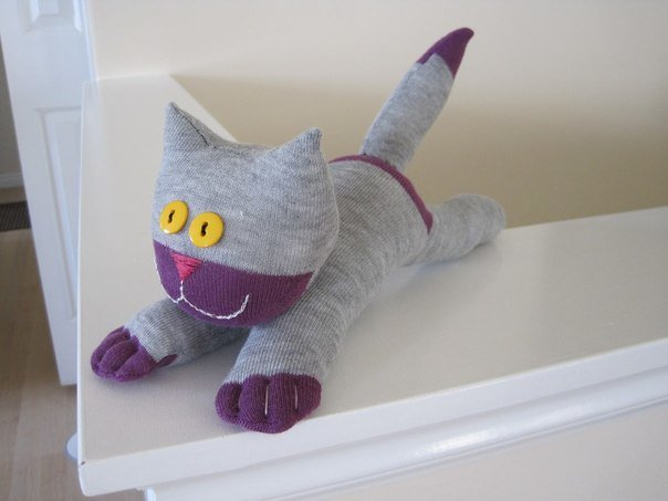 Поделка из носка своими руками котенок 88