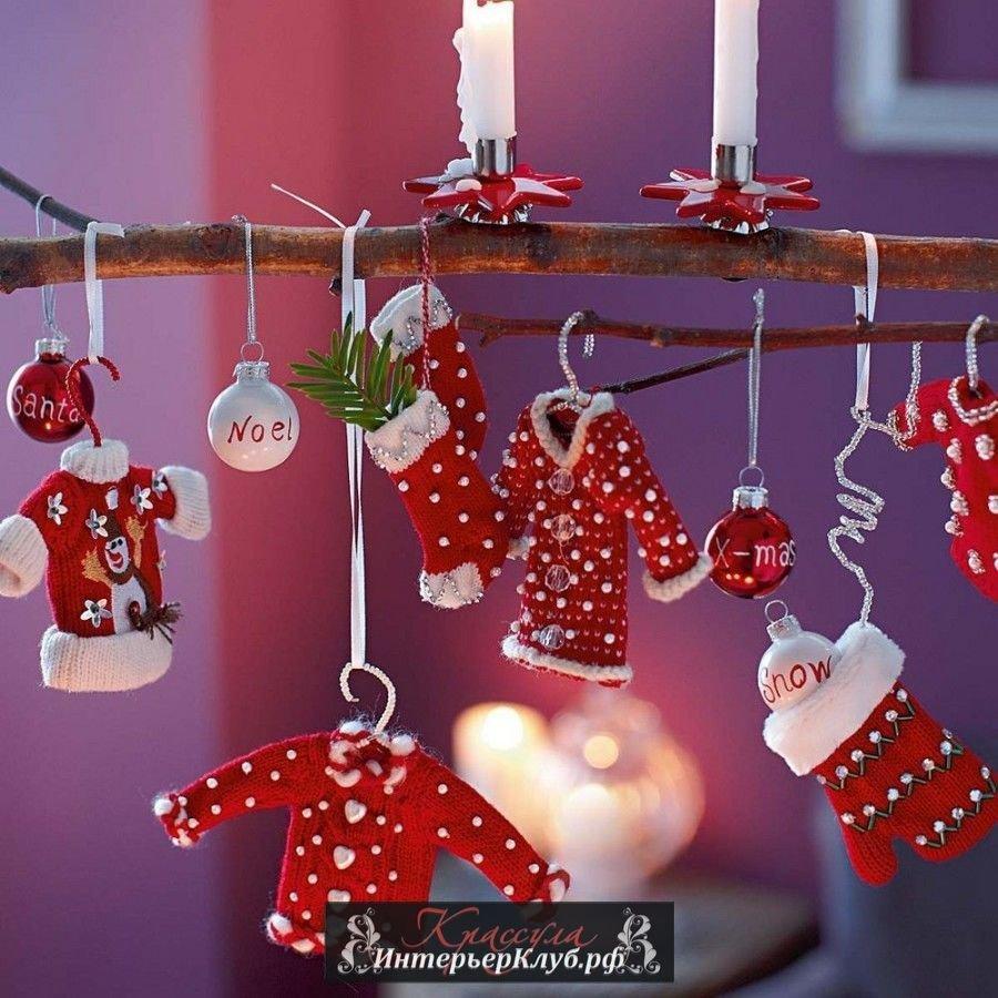 Красиво украсить комнату на новый год своими руками