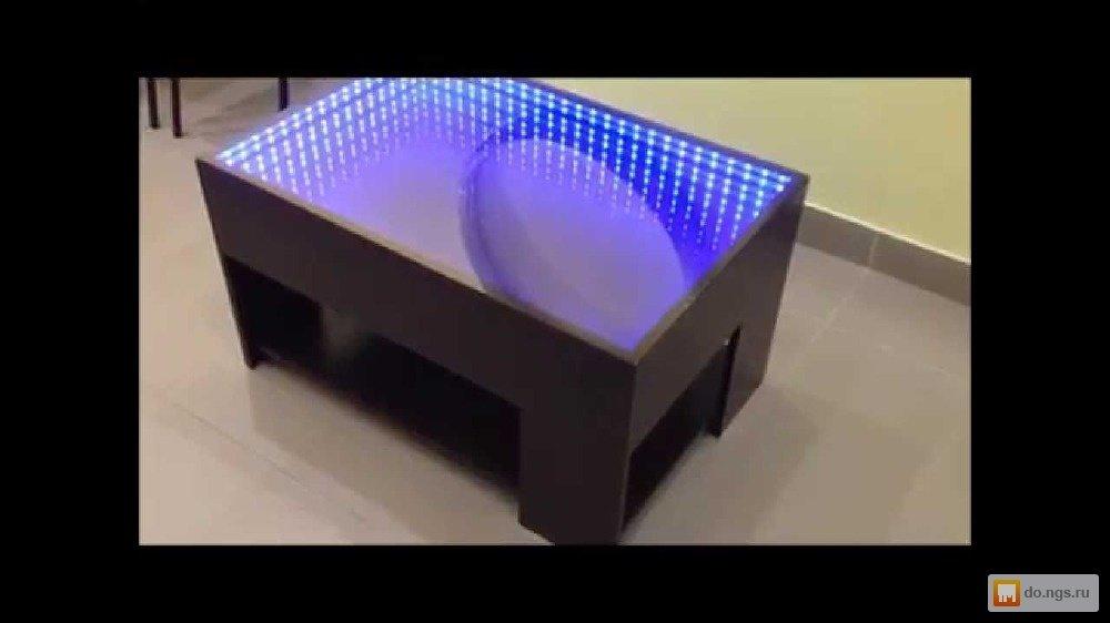 Стол с подсветкой своим руками 115