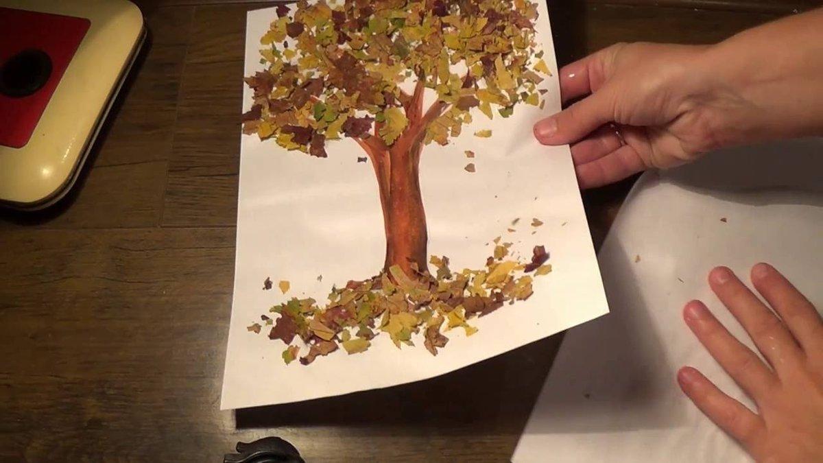 Поделки с детьми на тему деревья 84
