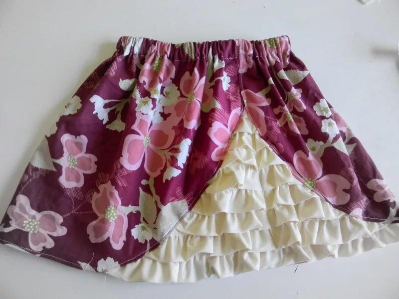 Сшить красивую юбку для девочки своими руками