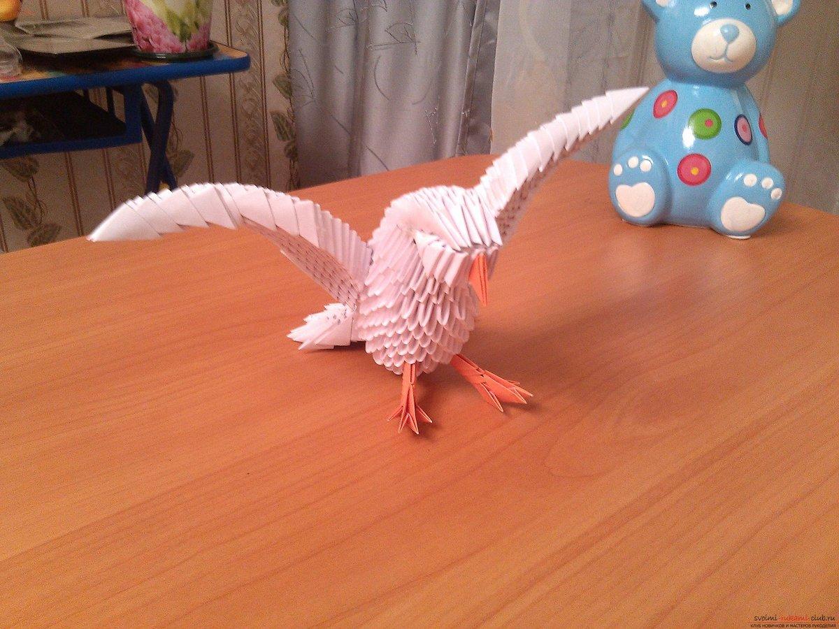Поделка из бумаги птица фото