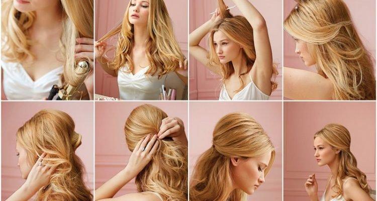 Простые причёски на длинные волосы своими руками в домашних 90