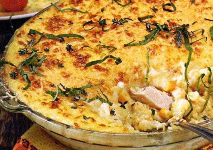 Запеканка из картофеля и курицы в духовке с пошагово