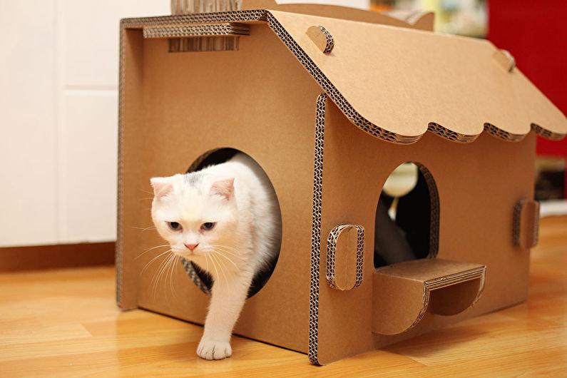 Игрушка коробка для кота своими руками 71