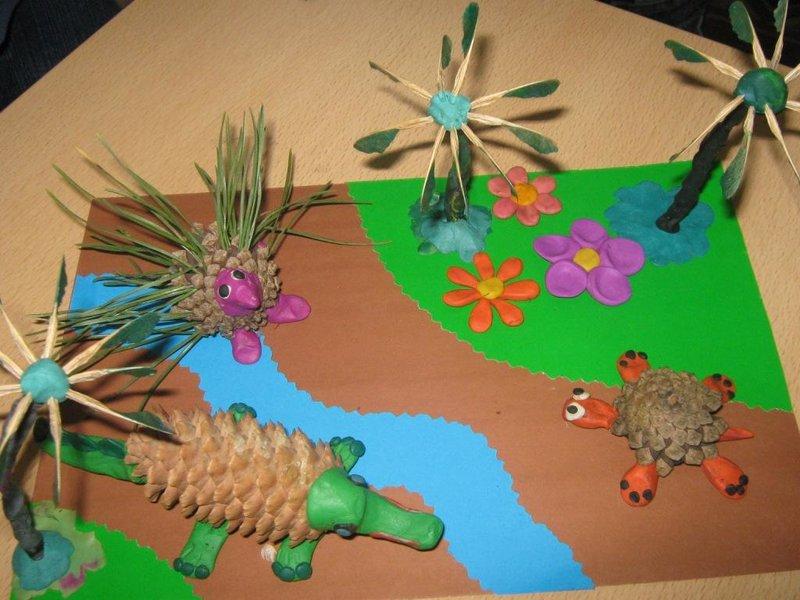 Летние поделки из природного материала в детском саду 100