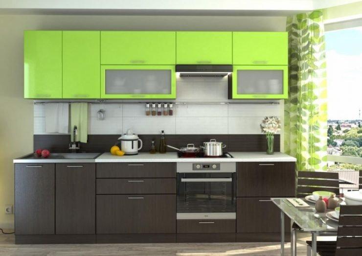 Дизайн прямой кухни 2.5 м