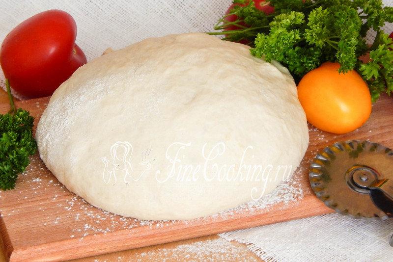 Дрожжевое тесто для пиццы с и пошагово