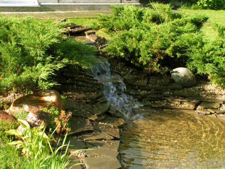 Искусственный пруд проточный возле ручья