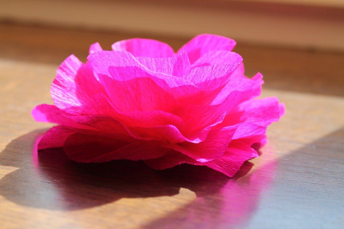 Как сделать цветы из гофрированной фото