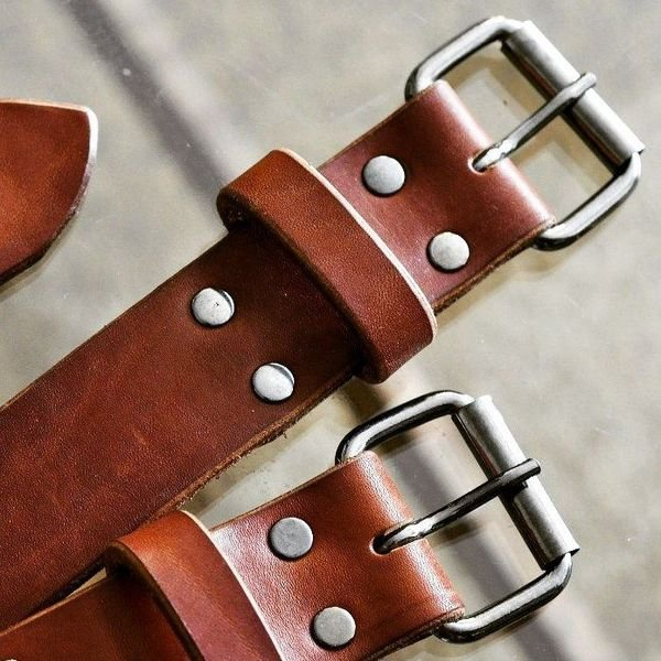 Как сделать кожаные ремни 462
