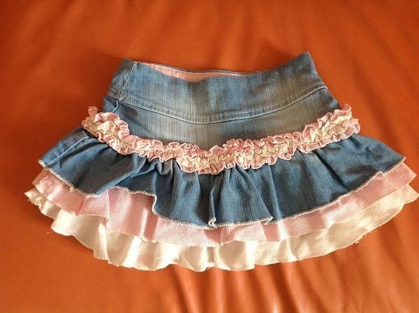 Сшить джинсовую юбку для девочки 2 года 82