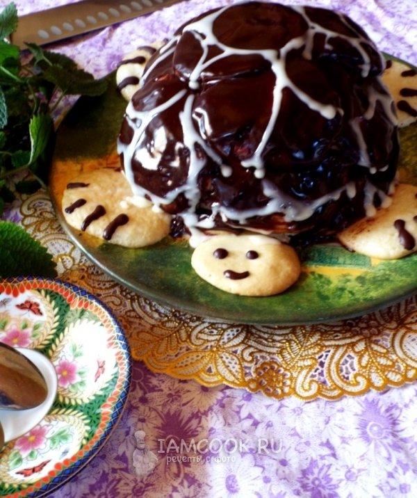 Фото рецепт сметанный торт черепаха