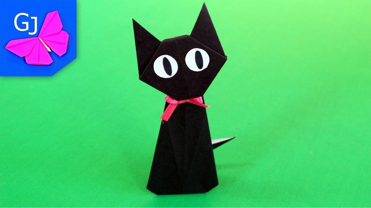 Как сделает из бумага кошка 615