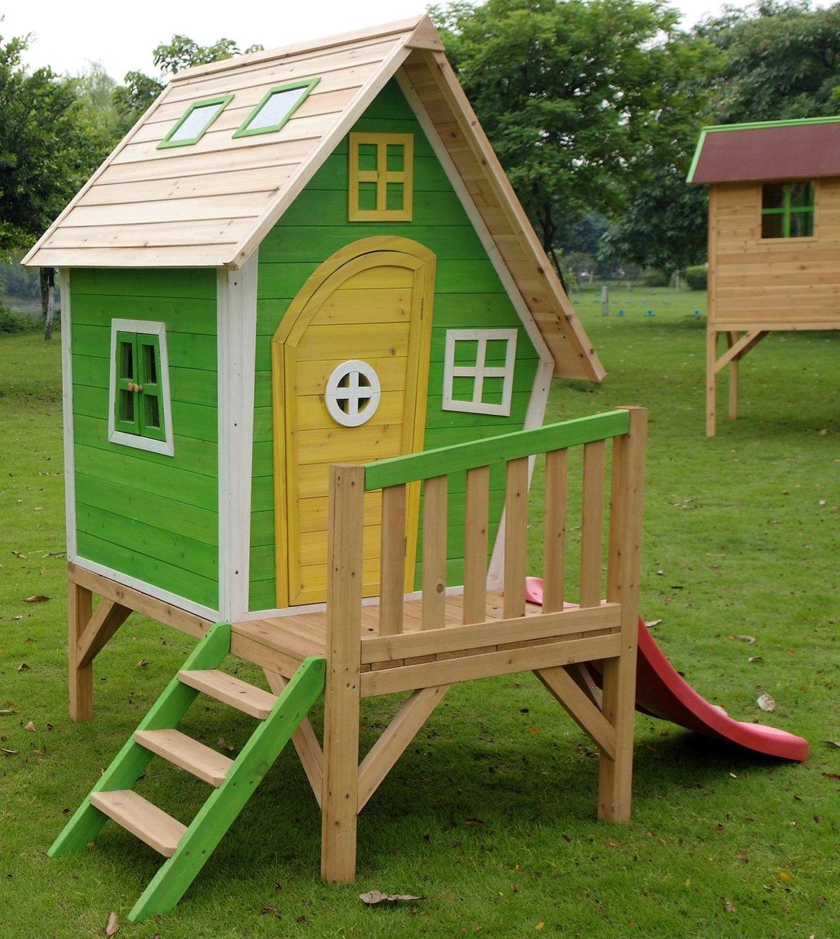 Детский домик на площадку своими руками фото