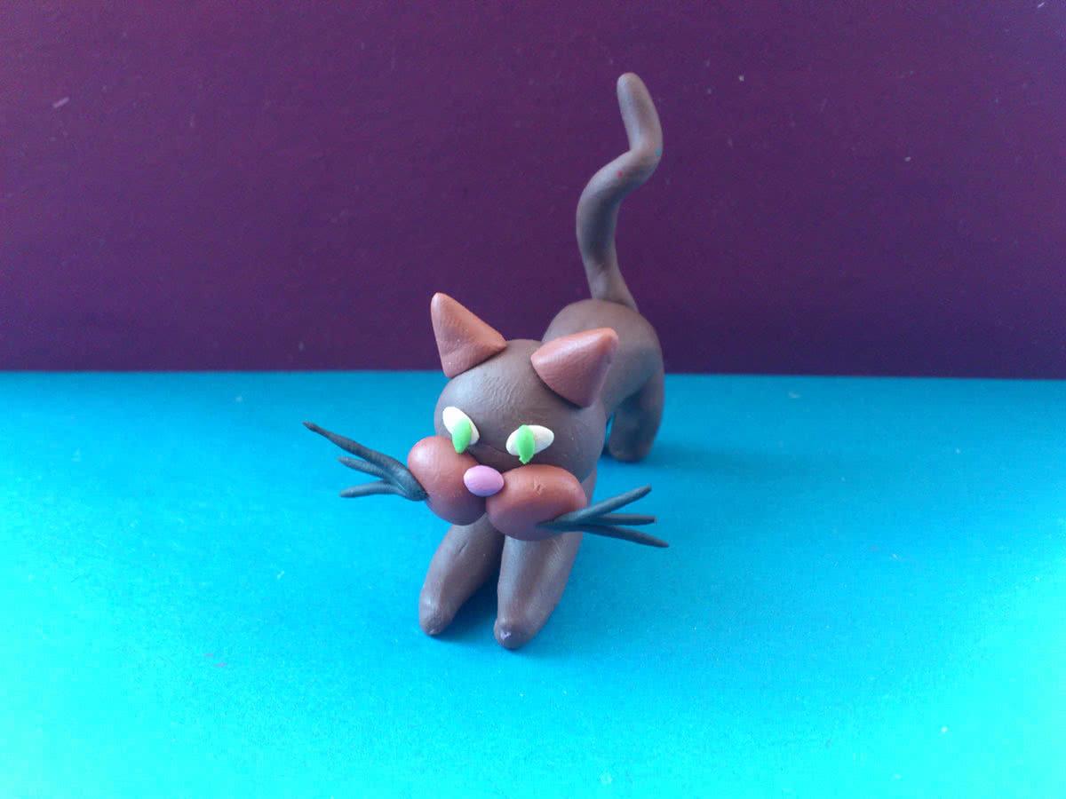 Как из пластилина сделать котёнка из
