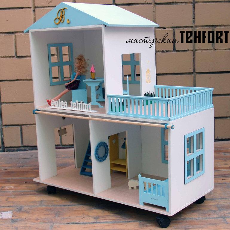 Кукольные домики своими руками фото из фанеры  786