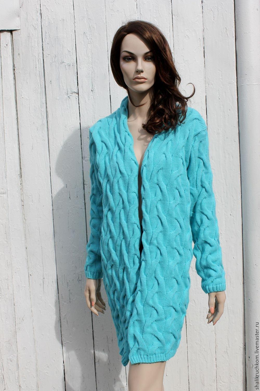 Кардиганы женские спицами модные