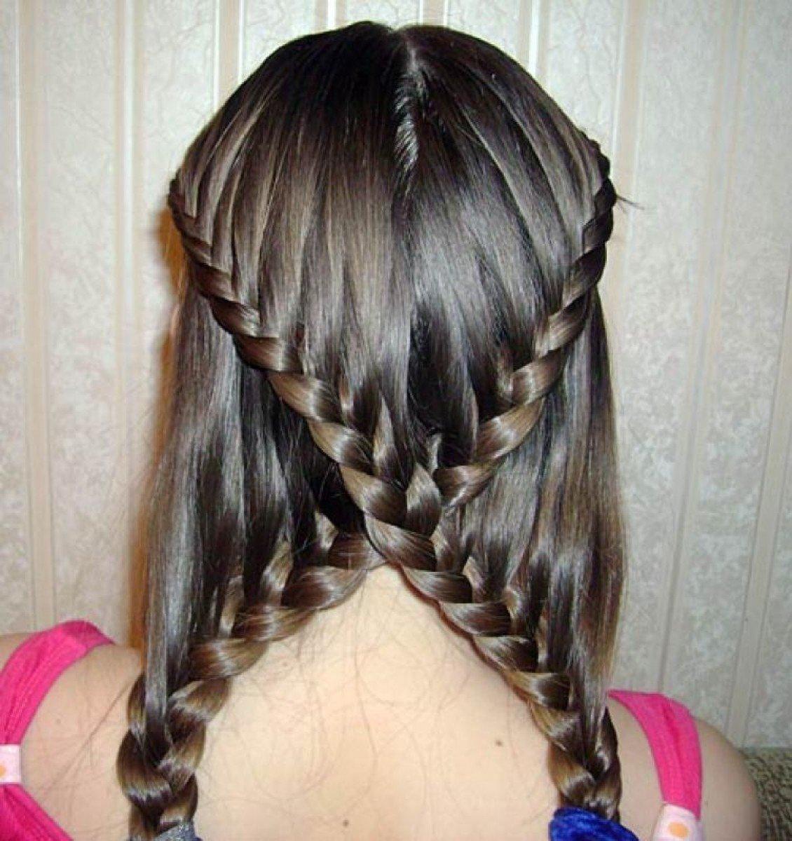 Как сделать красивые косички на длинные волосы для девочек