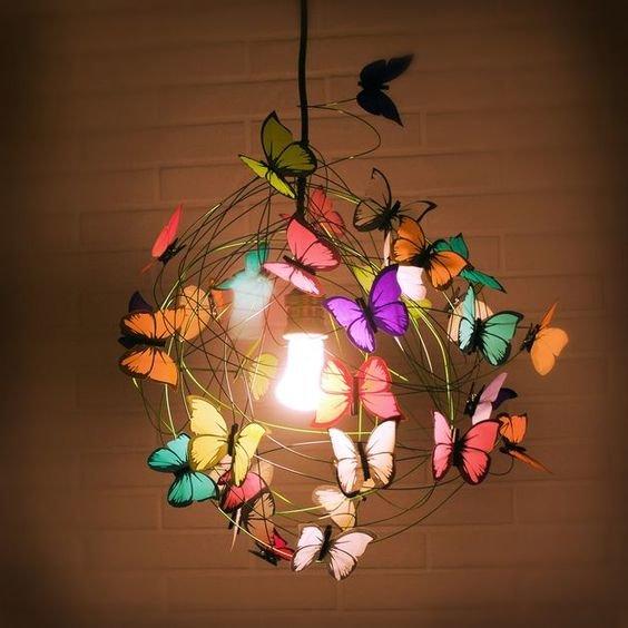 Люстра с бабочками как сделать 624