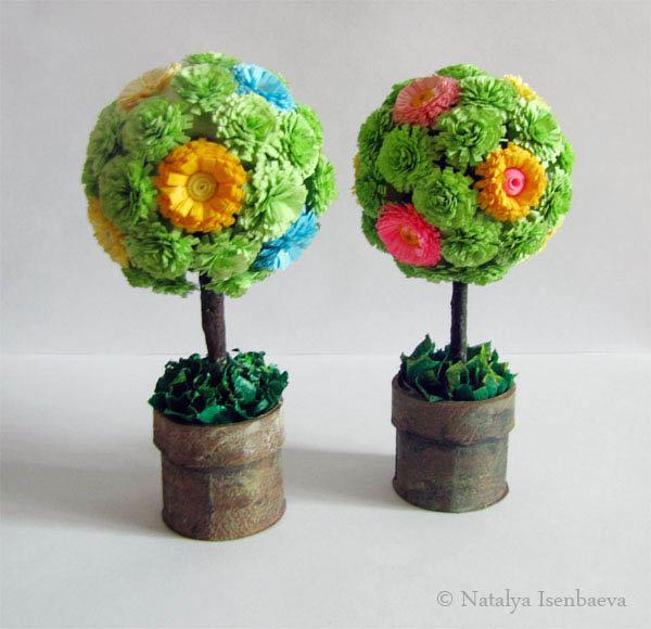 Дерева своими руками из цветов