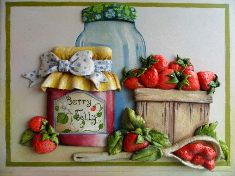 Картины из теста для кухни