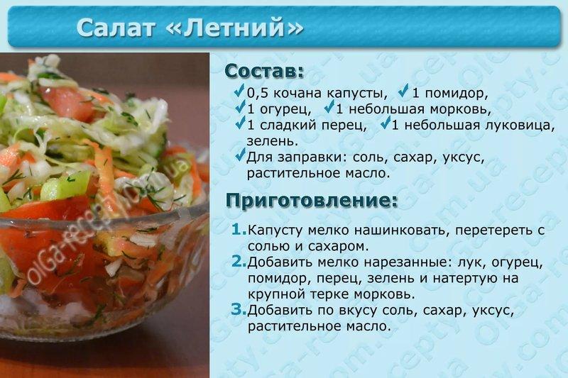 Витаминный салат рецепт в картинках