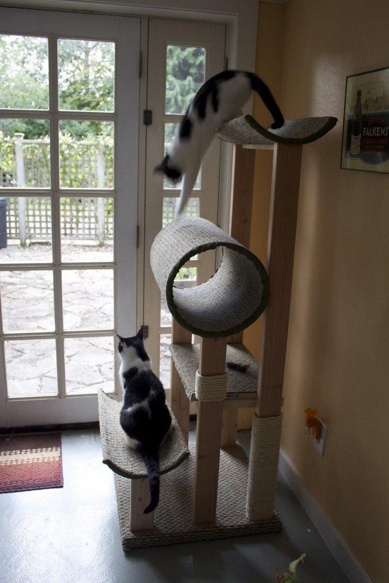 Дом для кошки своими руками ютуб