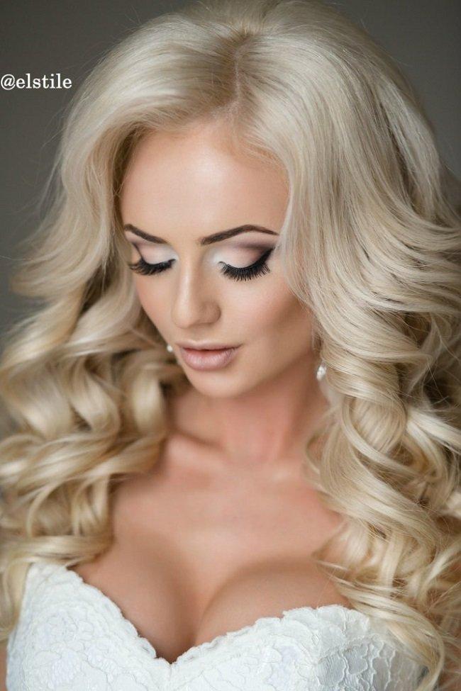 Макияж на свадьбу для блондинок с карими глазами 188